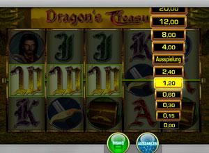 Merkur Dragon's Treasure Risikoleiter